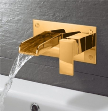 Gold Wall Mounted Basin Taps